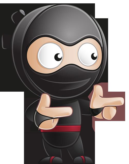 pointing ninja