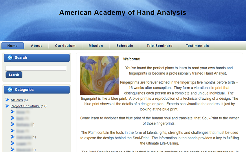 academy of hand analysis before