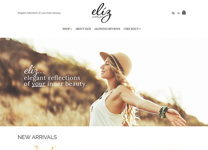 eliz jewelry portfolio design